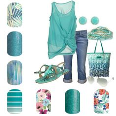 Spring/Summer 2016 Cool Green Tropical from Jamberry. From top left to bottom… Jamberry Nails Tips, Jamberry Combos, Jamberry Nails Consultant, Jamberry Party, Jamberry Nail Wraps, Winter Nails, Spring Nails, Summer Nails, Spring Summer