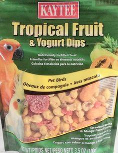 Tropical Fruit & Yogurt Dips / Pet Birds