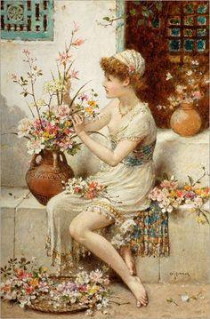 William Stephen Coleman - The Flower Girl, c. 1875