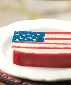 Hidden flag cake. This link has detailed instruction: http://celebrationsathomeblog.com/2011/06/4th-of-july-flag-cake.html