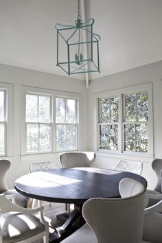 Simple dining area in a Mt. Pleasant, SC bungalow designed by Jenn Langston