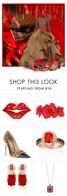 """""""Red Hot Chocolate"""" by cathy1965 ❤ liked on Polyvore featuring Stephane Rolland, Andrea Pfister, Dorothy Perkins, STELLA McCARTNEY, LE VIAN and R.H. Macy's & Co."""