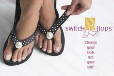 Great idea!!!  all you do is switch the top of the filp flop!!  We sell these at Victoria's Rose!!   Love them!!