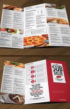 Graphicriver The Amazing Restaurant Menu   Layout Guides