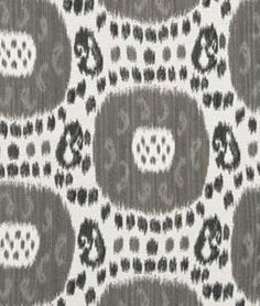 Beacon Hill Shara Ikat Black & White Fabric - $120.35 | onlinefabricstore.net