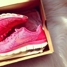 Pink sparkly Nikes, Yes please