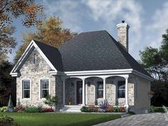 Country House Plan with 1094 Square Feet and 2 Bedrooms from Dream Home Source | House Plan Code DHSW65146