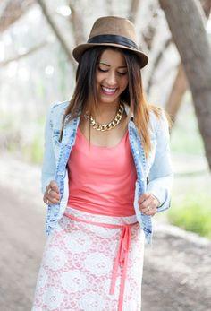 Coral Summer Dress @shoppinkblush