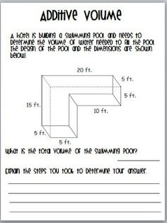 math worksheet : teaching to inspire in 5th teaching volume *common core resource  : Volume Word Problems 5th Grade