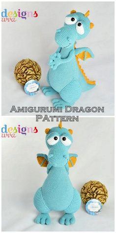 Amigurumi Crochet Dragon Patterns - Amigurumi Free Patterns #crochetdinosaurpatterns - longhair