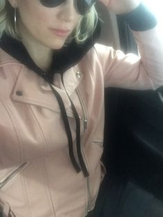 Hoodies and Leather Hoodie dress + leather moto-jacket, + over-the-knee boots=daydream. Fall feels cool and so do I in this. Give them the relaxed cool girl vibes in this classic combo. Always in black and a hint of pink. Leather Hoodie, Leather Jacket, Moto Jacket, Rain Jacket, Leather Dresses, Blank Nyc, Hoodie Dress, Daydream, Over The Knee Boots