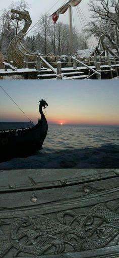 Viking Dragon prows and woodwork. 7db5a9f39e0e952ae058e60c2a6d49a9.jpg (733×1588)
