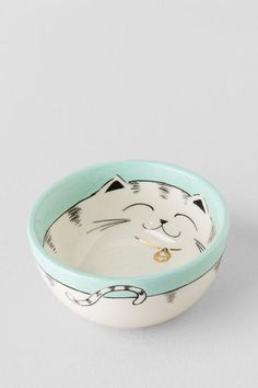 Ceramic Hand Painted Cat Bowl $8.00