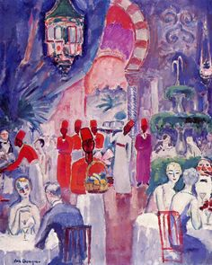 "ageoftheart: ""At Shepheard's Restaurant, Cairo Artist: Kees Van Dongen Year: 1928 Type: Oil on canvas """