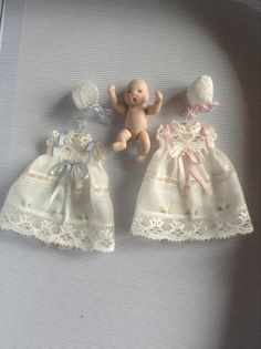 1:12 scale miniature clothes, Dollhouse nursery clothes, 1/12 scale miniatures clothes dollhouse accesories