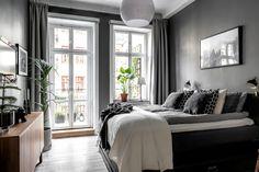 Is To Me | Interior inspiration | Dark grey bedroom