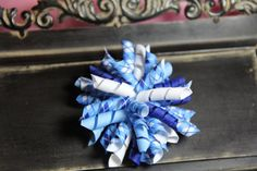 Shades of Blue Korker Hairbow by ruffles2ribbons on Etsy, $3.00