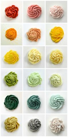 Naturally colored frosting palette....