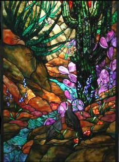 Stained Glass - Desert Stream & Cactus Bed (48 pieces)
