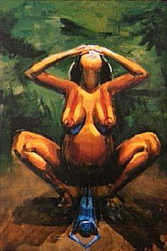 O Nascimento de Macunaíma. 1980. Óleo sobre tela. Hector Julio Páride Bernabó (Carybé), (Lanús, província de Buenos Aires, Argentina, 07/02/1911 — Salvador, Bahia, Brasil, 02/10/1997).