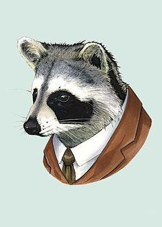 Ryan Berkley raccoon print