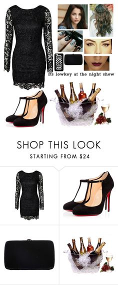 """""""It's lowkey at the night show✨"""" by blessed-with-beauty-and-rage ❤ liked on Polyvore featuring Christian Louboutin, Sergio Rossi, Prodyne, women's clothing, women's fashion, women, female, woman, misses and juniors"""