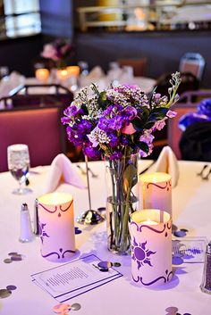 Disney's Tangled inspired candle reception decor