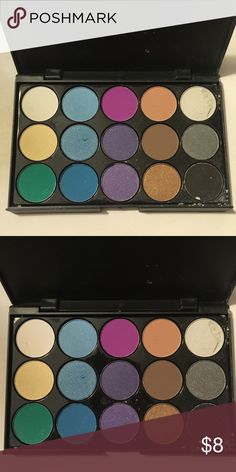 🆕15-Color Eyeshadow Palette A couple of the shadows are broken. The last pictures show the actual palette. Makeup Eyeshadow