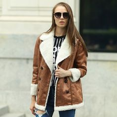 Plus Size Leather Jacket Women 2015 PU Leather Suede Stand Collar 6 Colors M- 4XL 5XL Women's Short Motorcycle Biker Jacket Coat | #MotorcycleJackets