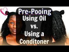 Pre-pooing Natural Hair: Using Coconut Oil vs Conditioner Before you Shampoo (Type 4 Hair) - YouTube