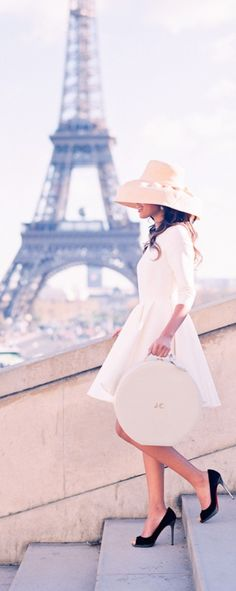 A lady takes in Paris