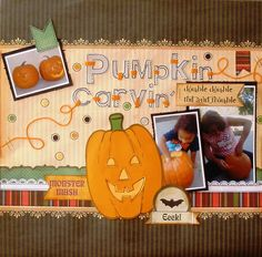 Pumpkin Carvin' - Scrapbook.com