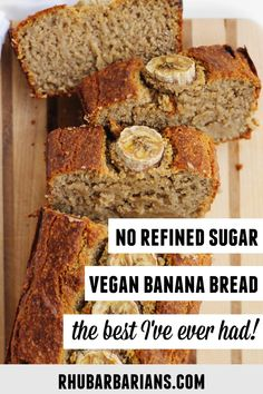 This is the best recipe for healthy vegan oat flour banana bread! Super moist gluten free banana bread with no refined sugar and dairy free. Click over to see how I decorate the top with bananas! // Rhubarbarians // Oat Flour Banana Bread, Gluten Free Banana Bread, Vegan Banana Bread, Banana Bread Recipes, Almond Recipes, Tapas Recipes, Appetizer Recipes, Vegetarian Recipes, Snack Recipes