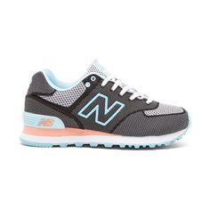 New Balance 574 Woven Collection Sneaker Shoes ($110) ❤ liked on Polyvore featuring shoes, sneakers, rubber sole shoes, new balance sneakers, laced shoes, lace up sneakers and new balance trainers