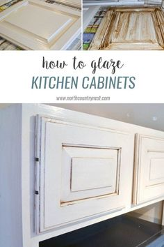 How to glaze kitchen cabinets / the kitchen / glaze cabinets / refinish kitchen cabinets