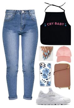 """""""Cry Baby ~ Melanie Martinez"""" by hdflynn ❤ liked on Polyvore featuring Armitage Avenue, Casetify, NIKE and Michael Kors"""
