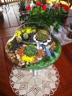 Terrario giardino in miniatura by punti di verde succulente idee per la casa pinterest - Giardino in miniatura ...