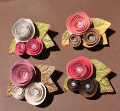 My Bride Idea - paper flowers buttons,  cute enough to make hair pieces out off for the bridesmaids