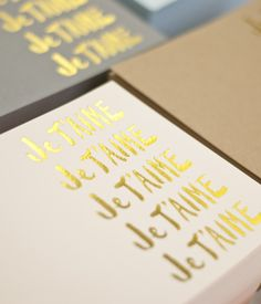 Sugar Paper for goop - exclusive limited edition JeT'aime note set