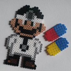 Dr. Mario perler beads by retrorobotcrafts