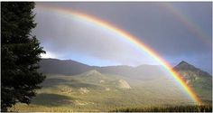 WEATHER FOLKLORE: Rainbow in the morning, Shepherd take warning. Rainbow toward night, Shepherd's delight. Rainbow at noon, Rain very soon. via/The Old Farmers Almanac
