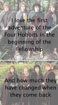 Hobbits are really amazing creatures <3