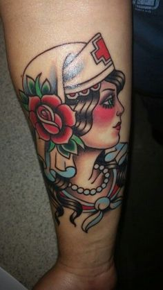 Nurse tattoo by Donny Manco