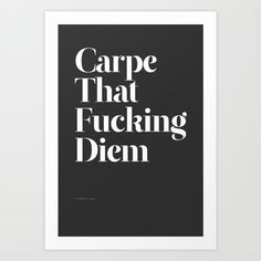 Carpe by WRDBNR word art print poster black white motivational quote inspirational words of wisdom motivationmonday Scandinavian fashionista fitness inspiration motivation typography home decor