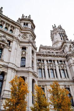 Palacio de Cibeles, Madrid, Spain, Madrid, Spain, Madrid in the fall