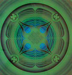 Gazdagság Mandala - Freedom Flow FengShui Webshop by Skultét Feng Shui, Mystic, Flow, Freedom, Mandala, Jin, Painting, Green, Sketchbooks