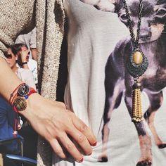 WE LOVE: Gabriele Frantzen #goldfishbracelet #eyebracelet and #seashell #necklace // shop the look at www.michelle-en-vogue.com #michelleenvogue Seashell Necklace, Goldfish, Our Love, Sea Shells, Fans, Bracelets, Shopping, En Vogue, Seashells