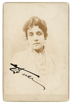 Asta 11 - Parte 1- Libri | Gonnelli Casa d'Aste - Duse Eleonora  Ritratto con firma autografa. Non datato.