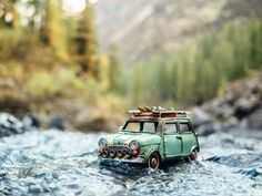 Traveling cars adventures by kim leuenberger bus volkswagen, miniature phot