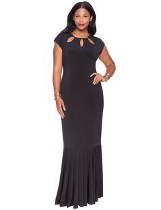 Studio Petal Neckline Gown | Women's Plus Size Dresses | ELOQUII